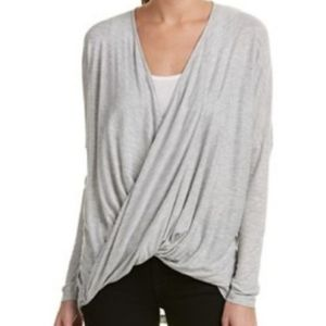 Cabi Gray Taylor Twist Draping Top Sm Style 3245